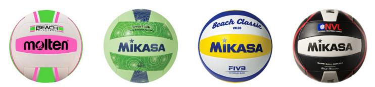 Recreactional and replical outdoor beach volleyballs