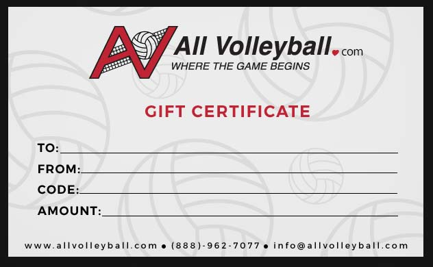 All Volleyball Gift Certificate