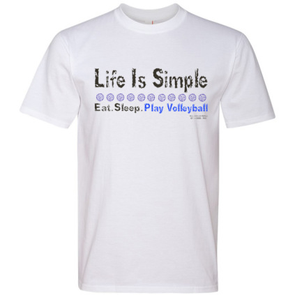Life Is Simple T-shirt - White