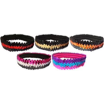 Multi-Color Sequin Headbands