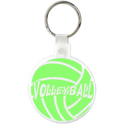 Neon Volleyball Keychain