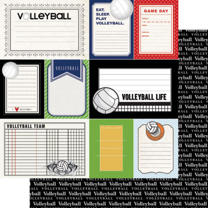 Scrapbook Page - Volleyball Sports Journal