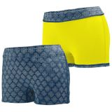 Navy Plexus Print/Power Yellow