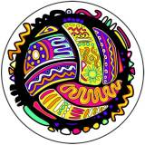 Bright Colored Volleyball Sticker