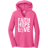 Faith, Hope, Love Volleyball Lightweight Hoodie