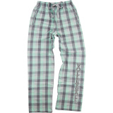 Mint Plaid Volleyball Flannel Pants