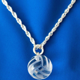 Necklace - Crystal Volleyball