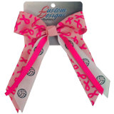 Pink Ribbon Hair Bow