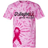 Serving Up a Cure Tie Dye T-Shirt
