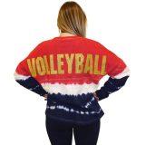 Spirit Volleyball Jersey - Red/White/Blue