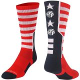 Stars and Stripes Volleyball Crew Sock