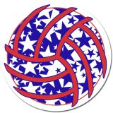 Stars Volleyball Sticker
