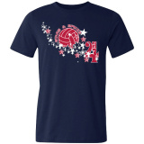 Volleyball Fourth of July T-Shirt