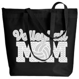Volleyball Mom Zippered Tote