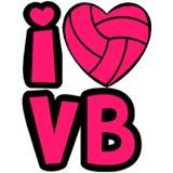 I Heart Volleyball Temporary Tattoo