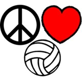 Peace, Love, Volleyball Temporary Tattoo