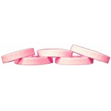 Volleyball Silicone Bracelet - Pink Ribbon