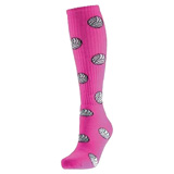 Volleyball Print Knee High Socks - Pink